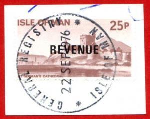 Isle of Man 25p QEII Pictorial Revenue CDS On Piece