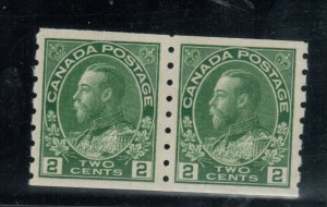 Canada #128ii Extra Fine Never Hinged Pair