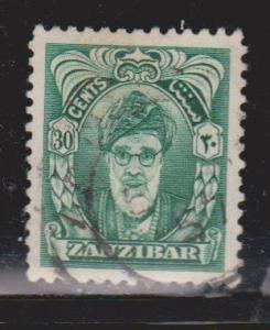 ZANZIBAR Scott # 235 Used