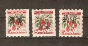 Uruguay1958-9 overprint errors
