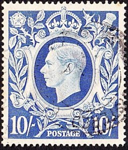GREAT BRITAIN 1942 KGVI 10s Ultrimarine SG478a Used