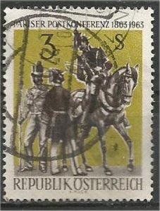AUSTRIA, 1963, used 3s,,Postal Conference. Scott 704