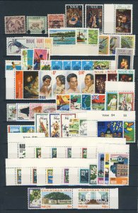 NIUE  Mainly Modern Collection to 1976 Most with Margins Mounted on Margins Only