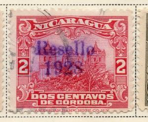 Nicaragua 1928 Early Issue Fine Used 2c. Optd 323656