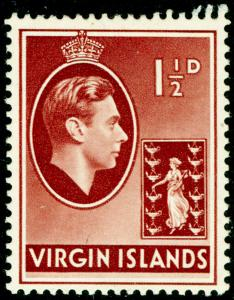 BRITISH VIRGIN ISLANDS SG112a, 1½d red-brown, LH MINT.