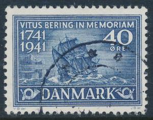 Denmark Scott 279 (AFA 272), 40ø Vitus Bering, F-VF used