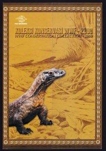 INDONESIA 2000 WWF WILDLIFE ⭐ KOMODO DRAGON ⭐ STAMP SET - PRESENTATION PACK