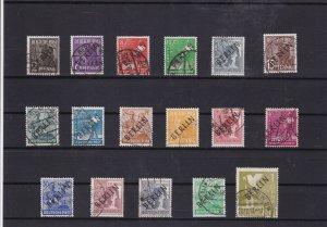 germany berlin overprints stamps  cat £950+ ref 7844