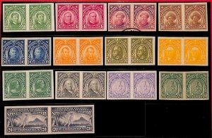 94953 - PHILIPPINES - LOT of IMPERF STAMPS - 1926 Personalities SPECIAL DELIVERY