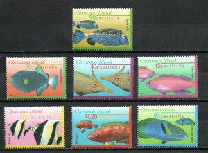 Christmas Island 381-387 MNH
