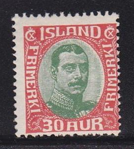 Iceland 122 Mint Hinged ! scv $ 53 ! see pic !