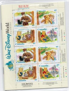 Canada Sc 1621c 1996 Winnie the Pooh stamp booklet mint NH
