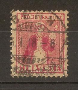 Switzerland 1917 10c Pro Juventute SG.J8 Fine Used 'Ticina'