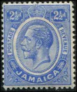 Jamaica SC# 64 SG# 61 George V 2-1/2d MH  wmk 3