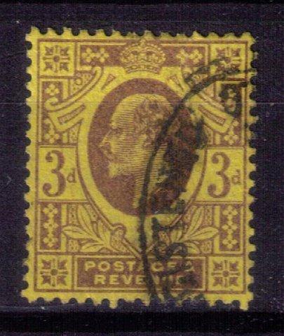 Great Britain Scott #132 dull/purple/org/ylw used  (Sg232) KEVII-F-VF