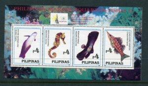 Philippines MNH S/S 2413 Marine Aquarium Fish 1996