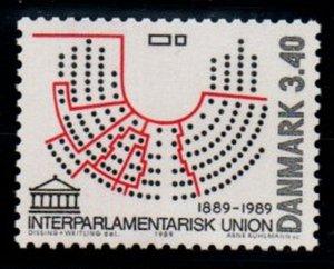 Denmark Sc 874 1989 Interparliamentary Union stamp mint NH