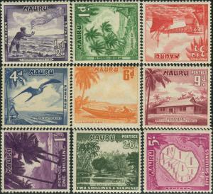 Nauru 1954 SG48-56 Scenes set MH