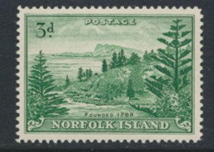 Norfolk Island SG 6a on white paper  MNH 1959 issue see scan/details  SG cat...