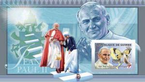 Guinea - Pope John Paul II Souvenir Sheet 7B-024