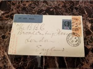 1932 Malacca Malaya Cover To England via KLM Airmail # 165