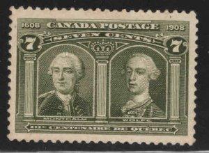 Canada Scott 100 MNH** Generals Montcalm and Wolfe 1908