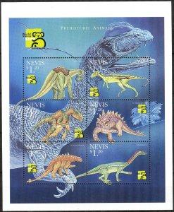 Nevis 1999 Prehistory Animals Dinosaurs Sheets MNH