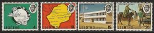 Lesotho  mh  sc #  166 - 169