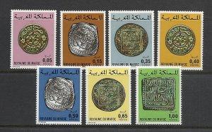 Morocco #354-60 comp mnh cv $4.70 Coins on Stamps