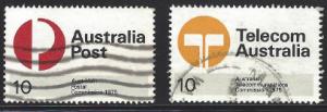 Australia Scott # 616-617 Used