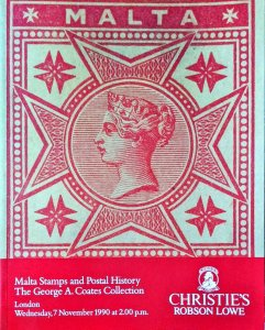 Auction Catalogue MALTA STAMPS and POSTAL HISTORY - George A Coats Collection