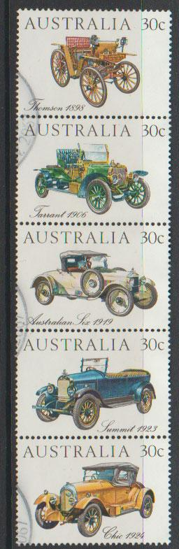Australia SG 905a Used   vertical strip of 5