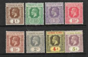 LEEWARD ISLANDS 1921-32     KGV   PART SET    MLH