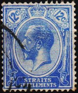 Straits Settlements. 1919 12c S.G.232 Fine Used