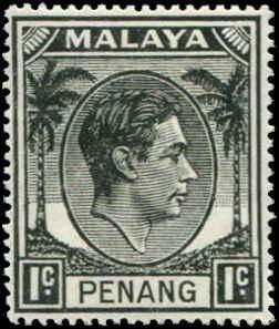 Malaya - Penang SC# 3 SG# 3 George VI 1c MH