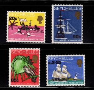 Seychelles Scott 245-251 MNH** Praslin Island Ship landing set