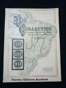 STANLEY GIBBONS AUCTION CATALOGUE 1978 RIO COLLECTION BRAZIL 1843 - 1866