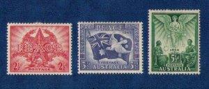 Australia Sc 200-202 MLH Very Fine (1946):