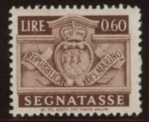 San Marino Scott J73 MH* 1945 postage due similar centering