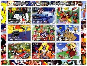 Tajikistan 2001 TWEETY & SYLVESTER Cartoons Sheet Perforated Mint (NH)