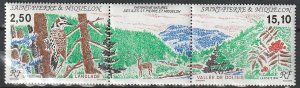 1992 St. Pierre and Miquelon - Sc 582a - MNH VF - 1 pr - Natural Heritage