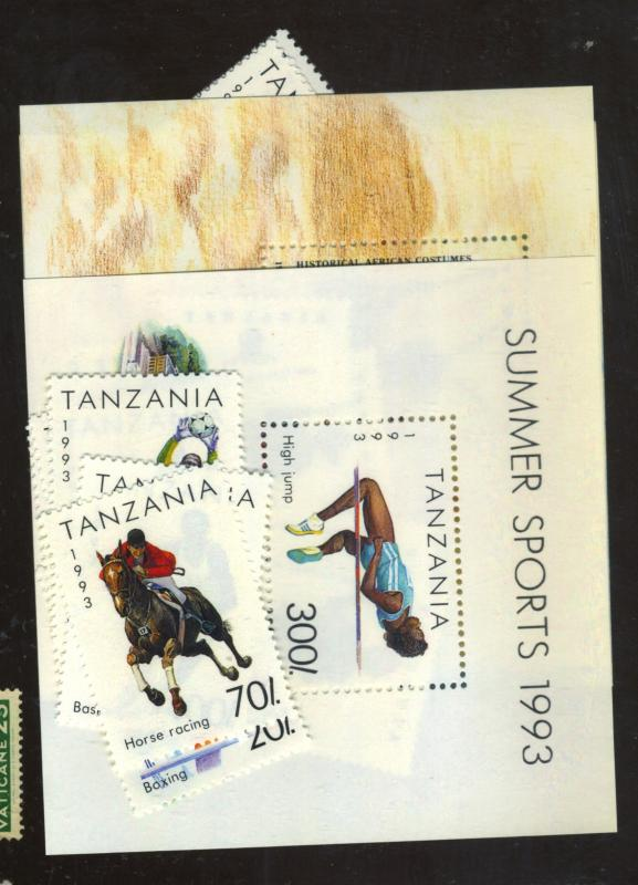 Tanzania #1018-25 1193-1208 MINT VF NH Cat$23.40