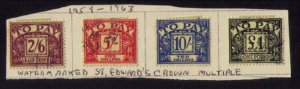 Great Britain Sc J64-J67 Used (Wmk St.Edward's Crown Multiple) F-VF