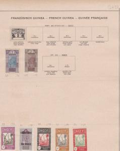 french guinea stamps sheet ref 11118