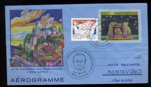 VATICAN - 1987 Voyage du Pape Jean-Paul II en Uruguay - Air Letter