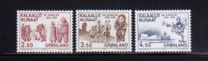GROENLANDIA/GREENLAND 1983 MNH SC.150/152 Greenland History