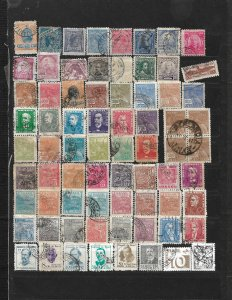 COLLECTION LOT OF 72 BRAZIL STAMPS 1894+