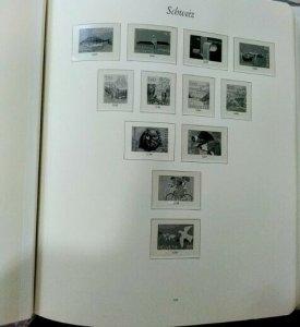 Switzerland stamp album, years 1971-1991