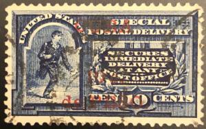 TangStamps U.S. #E1b Special Delivery Stamp Overprint Missing Dot VF CV $400