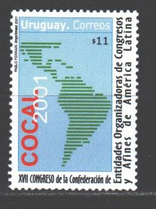 Uruguay. 2001. 2586. Congress of Trade Union Leaders of Teachers. MNH.